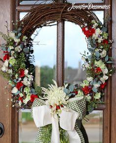 Front Door Wreaths from Jenniferdecorates.com