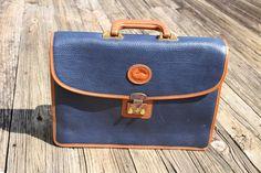 Vintage Dooney & Bourke all-weather leather NAVY blue | Etsy Laptop Briefcase, Laptop Bag, Best Pens, Brown Trim, Caramel Brown, Wayfarer Sunglasses, Dooney Bourke, Shoulder Strap, Navy Blue
