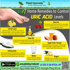 Top 7 #Home #Remedies to #Control #Uric #Acid #Levels #cherries #Oliveoil #Lemonjuice #applecidervinegar #bakingsoda #water #ginger #naturalremedies #homeremedies