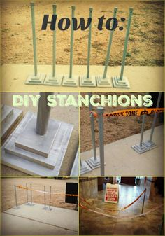 Diy hollywood movie stanchion my board pinterest movie how to make diy stanchions solutioingenieria Image collections