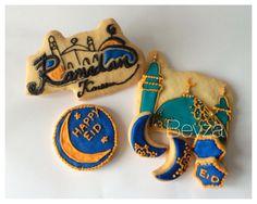 Ramadan Cookies for 2014 by Beyza Kassem (Queens & Cookies Germany) Ramadan Sweets, Ramadan Recipes, Cupcake Cookies, Sugar Cookies, Eid Hampers, Ramadan Celebration, Eid Ideas, Eid Food, Eid Crafts