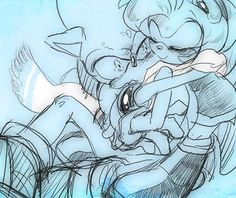 Damn cute as he'll huh? Amy Rose, How To Draw Sonic, Sonic The Hedgehog, Sonamy Comic, Cute Marshmallows, Fanart, Sonic Franchise, Villainous Cartoon, Sonic And Amy