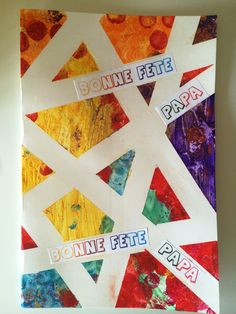 Carte géométrique - Fête des pères 2016 - Les Pious de Chatou (Assistante Maternelle Chatou Happy Dad Day, Crafts For Kids, Diy Crafts, Father's Day Diy, Mother And Father, Hama Beads, Pixel Art, Fathers Day, Projects To Try