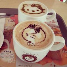 Hello kitty #coffee canvas