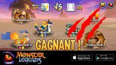 Je suis un pro de l'arène de Monster Legends! Si tu veux me défier, commence à collecter tes propres monstres ! http://m.onelink.me/8651e4be