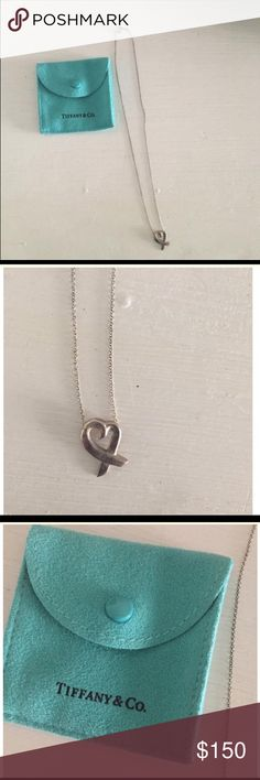 Tiffany heart necklace Cute Tiffany heart necklace. In great condition Tiffany & Co. Jewelry Necklaces