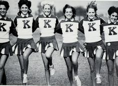 Vintage cheer kickline! Cheerleading has come a long way since - watch the full story with the documentary 'The Truth Behind The Pompoms' - trailer on www.cheercoach.net