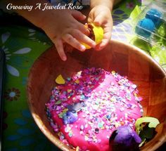 Beautiful Confetti Play Dough ~ Growing A Jeweled Rose