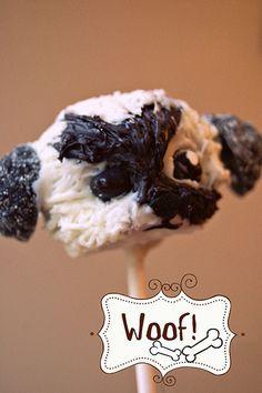 adorable puppy cake pop
