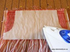 freezer paper smocking tutorial