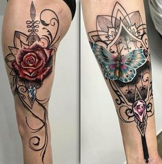 Delicate Rose & Butterfly by Ryan Smith Sleeve Tattoos For Women, Tattoo Sleeve Designs, Flower Tattoo Designs, Flower Tattoo Back, Flower Tattoo Shoulder, Tattoo Video, Tattoo Blog, Time Tattoos, Body Art Tattoos