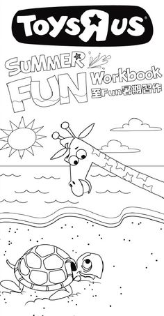 Printable Coloring Page For Your Kids To Do On Those Summer Rainy Days