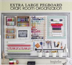 pegboard maybe white with red frame