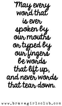 Kind words quote via www.BraveGirlsClub.com