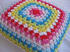 Ravelry: Project Gallery for Granny square cushion pattern by Cath Kidston