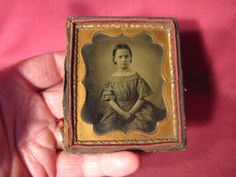 1850-60s-1-6th-Plate-Ambrotype-Of-A-Young-Girl