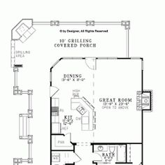 Rustic Open Plan for a Narrow Lot - Floor Plans Cabin House Plans, Cottage Floor Plans, Best House Plans, Dream House Plans, House Floor Plans, Small Lake Houses, Affordable House Plans, Interior Decorating Tips, Narrow House