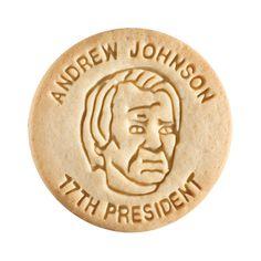 Dick & Jane Educational Snacks;  Presidential Edition;  Andrew Johnson,   17th President,   1865-1869