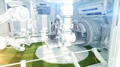 Futuristic research medical laboratory by Ociacia.deviantart.com on @DeviantArt