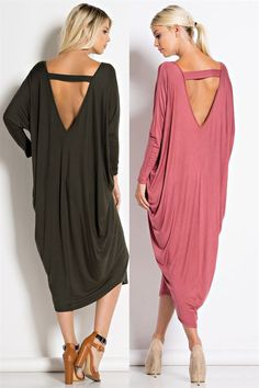 Deep Back Cut Out V Neck Maxi Dress Fabric : 95%RAYON 5%SPANDEX Made In : U.S.A.