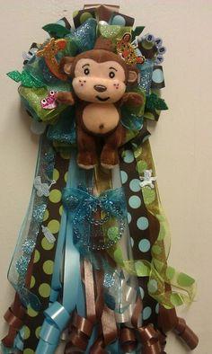Rain forest theme corsage