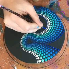 Art Discover (painting dots Art) Credit by (Brandon rollin) Simple Acrylic Paintings Dot Art Painting Mandala Painting Acrylic Art Mandala Art Stone Painting Watercolor Art Acrylic Painting Lessons Mandala Drawing Stone Art Painting, Dot Art Painting, Mandala Painting, Hippie Painting, Mandala On Canvas, Dot Painting On Rocks, Mandala Drawing, Painting Canvas, Acrylic Paintings