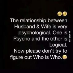 Marriage is a serious life commitment with plenty of ups and downs. Here are some funny husband and wife quotes to celebrate the sunny side of marriage. Husband Wife Humor, Husband Quotes From Wife, Funny Quotes About Husbands, Husband Wife Relationship Quotes, Relationship Therapy, Marriage Relationship, Wife Memes, Sarcastic Quotes, Funny Marriage Quotes