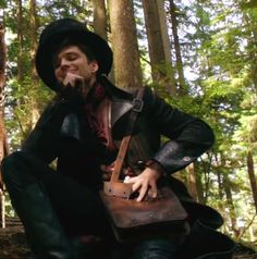 """Jefferson """"The Mad Hatter"""" from Once Upon A Time. <3 Not gonna lie, I was totally freaked out by him in season one when he kidnapped you know who and you know who else (incase those who haven't seen it reads this lol) because he was totally giving off the creepy vibe and I didn't know what to expect but now I know who he is and I love him :D lol"""