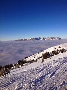 Get your head in the clouds at the top of the Fleckalmbahn gondola in Kirchberg