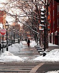 Newbury St Boston Ma in the Winter, a beautiful snowy site! #bostonusa