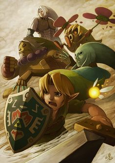 Illustrations of Link by Ryan Shiu | Hunie