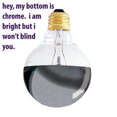 100W half chrome bulb