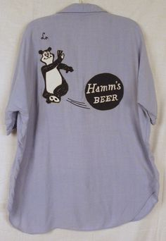 Vintage 50's/60's HAMM'S BEER Bear Rayon Bowling Shirt Men's XL | Endangered Clothing