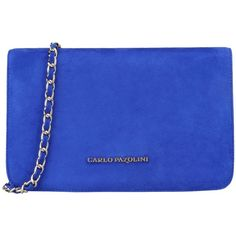 Carlo Pazolini Cross-body Bag ($365) ❤ liked on Polyvore featuring bags, handbags, shoulder bags, bright blue, mini cross body purse, mini crossbody, mini shoulder bag, metallic crossbody and crossbody purse