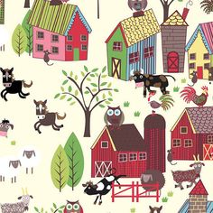 Hey, I found this really awesome Etsy listing at https://www.etsy.com/listing/121248376/home-to-roost-itb-fabric-barn-yard-owls