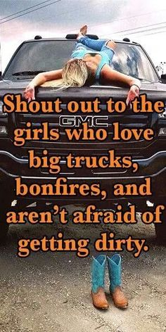 To my fellow country girls! Keep it country! Real Country Girls, Country Girl Life, Country Girl Quotes, Cute N Country, Southern Girls, Country Girl Stuff, Country Strong, Funny Country Sayings, Country Girl Truck