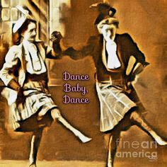 DANCE BABY DANCE. The older generation always has something to share with the younger.  How fun to spend time with your grandmother or granddaughter and dance like nobody is watching.  Each generation needs a wise sponsor to show them the happy way; to demonstrate that they are indeed loved.  This art is available at www.BeautyForGod.com