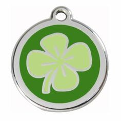 shamrock dog name tag by an Australian company called Red Dingo..Porter has one and I love it
