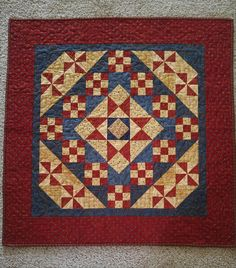 Handmade Country Primitive Americana Star Quilt