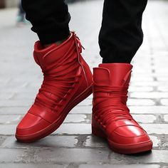 Shoespie Lace Up Men's Flat Boots Casual Sneakers, Casual Shoes, Men Casual, Casual Winter, Red Boots, Flat Boots, Winter Shoes, Shoes Online, Girls Shoes