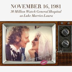 On this day in history, a momentous occasion happened on television. Luke married Laura on General Hospital. Celebrate the day of one of the best television weddings with Linea Pelle!