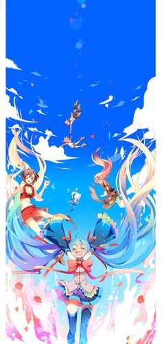 vocaloid Part 11 - - Anime Image Hatsune Miku, Kaito, Anime Chibi, Kawaii Anime, Manga Anime, Sakura Miku, Miku Chan, Mikuo, Anime Artwork