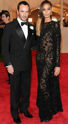 Tom Ford & Joan Smalls in Tom Ford @ Met Gala 2013