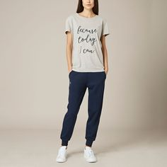 A go-to loungewear staple, the classic jogger has a ribbed waistband with a drawstring and ribbed ankle cuffs for a comfortable and flattering fit.    74% Lyocel 22% Polyamide 4% Elastine   Ribbed waistband and ankle cuffs   Drawstring waist   Embroidered 'R' below pocket