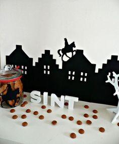 Sinterklaas silhouet van @Sweet Table Shop #mamablog www.stijlvolmamablog.nl