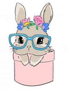 Bunny Drawing, Drawing For Kids, Spring Drawing, Bunny Tattoos, Cute Scrapbooks, Kawaii Bunny, Cute Frames, Kawaii Drawings, Baby Prints