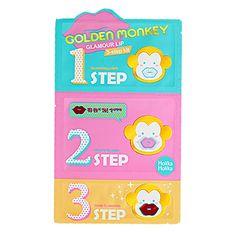 Holika Holika Golden Monkey Glamour Lip 3-Step Kit - Holika Holika