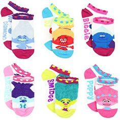 Trolls Movie Girls Teen Womens 6 pack Socks (Toddler/Little Kid/Big Kid/Adult): Clothing Big Toy Box, Stocking Stuffers For Girls, Pbs Kids, Halloween Costumes For Girls, Baby Halloween, Girls Socks, No Show Socks, Fashion Socks, These Girls