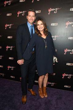Mariska hargitay and peter Hermann, at #YoungerTv #Season4Premiere #TeamCharles