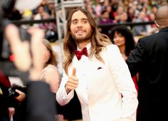 """Jared Leto, a supporting actor nominee for his role in """"Dallas Buyers Club,"""" in Burberry. #Oscars #AcademyAwards"""